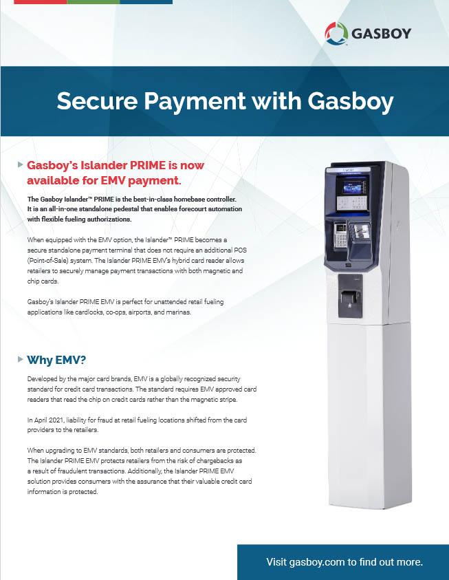 Gasboy Islander PRIME /ICR EMV Brochure