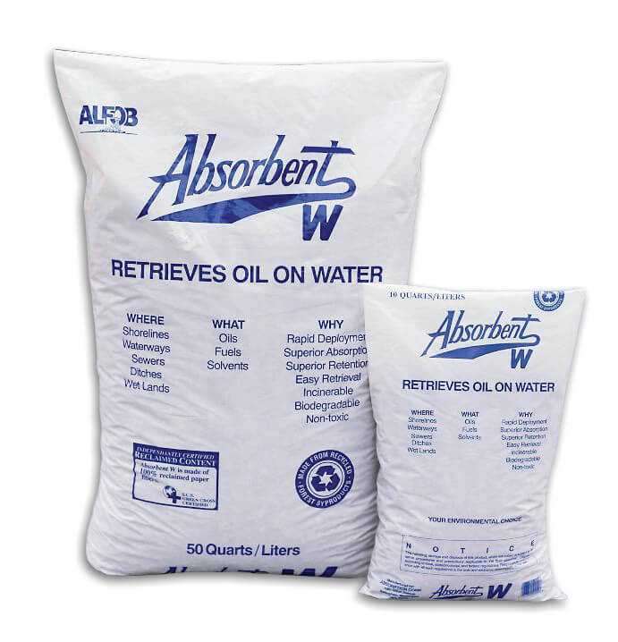 OIL057 ChemTex 100 Percent Recycled Cellulose Pulp Absorbent Material. - 10lb Bag - Oil Only