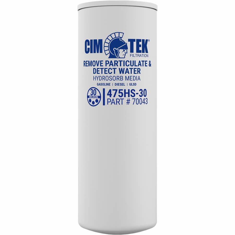 70043 Cim-Tek 30 Micron Hydrosorb High Capacity Service Station Spin On Filter.