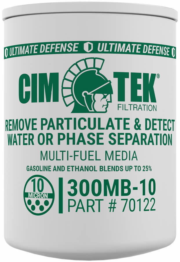 70122 Cim-Tek 300MB-10 10 Micron Ethanol Phase Separation Spin-On Filter. - Detects Water - For Use w/ Straight Gasoline or Ethanol Blends up to 15 Percent.