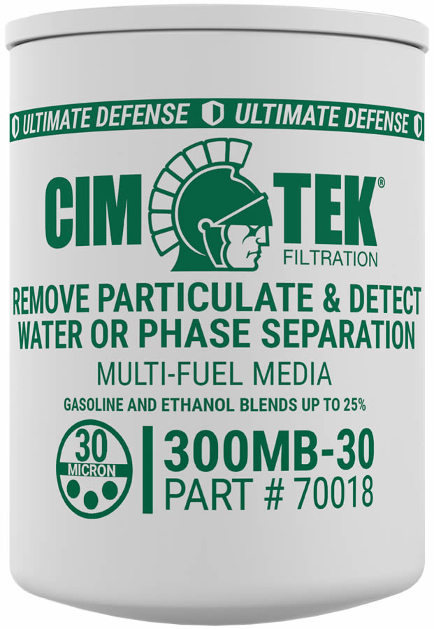 70018 Cim-Tek 300MB-30 30 Micron Ethanol Phase Separation Spin-On Filter. - Detects Water - For Use w/ Straight Gasoline or Ethanol Blends up to 15 Percent.