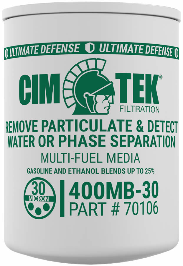 70106 Cim-Tek 400MB-30 30 Micron Ethanol Phase Separation Spin-On Filter. - Detects Water - For Use w/ Straight Gasoline and Ethanol Blends up to 15 Percent