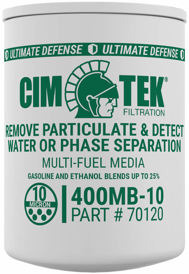 70120 Cim-Tek 400MB-10 10 Micron Ethanol Phase Separation Spin-On Filter. - For Use w/ Straight Gasoline and Ethanol Blends up to E15
