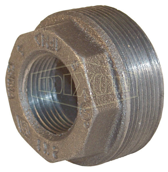 Reducer Hex Bushing 3 NPT Male x 2 NPT Female Dixon  HB3020 Iron 150# Pipe and Welding Fitting