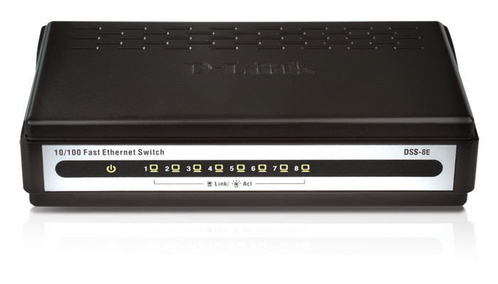DES-1008E D-Link Unmanaged Switch W/ Metal Case (N/A Replaced By DES-108) - (8) RJ-45 10/100BASE-TX Ethernet Ports - Networking Protocol: IEEE 802.3, IEEE 802.3u, IEEE 802.3x Ports