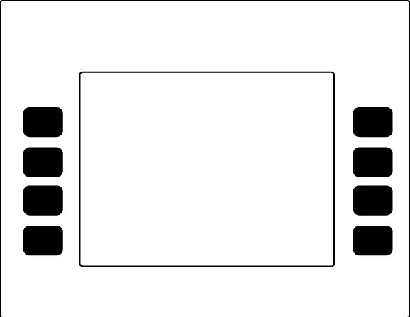 ENE0301G002 Gilbarco Encore Monochrome Softkey Standard White w/ Black Overlay Graphic.