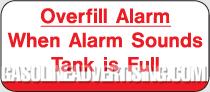 CAS-H4 GAP Aluminum Overfill Alarm Sign.