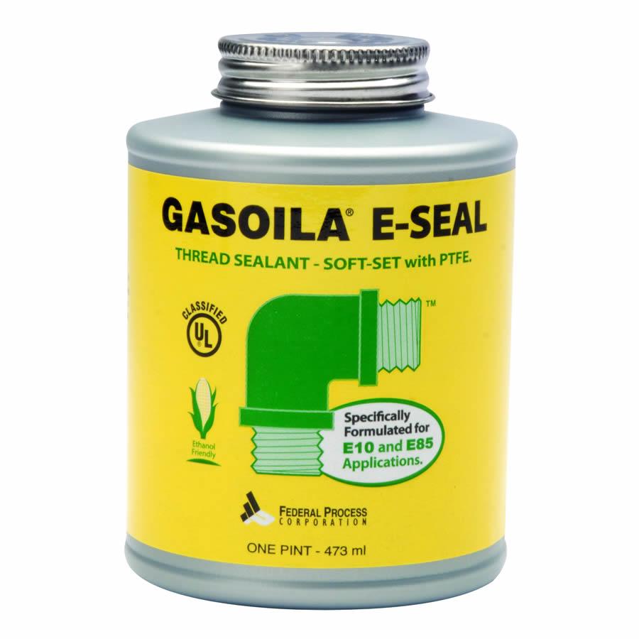 GE16 Gasoila 1 Pint E-Seal Soft-Set PTFE Thread Sealant w/ Brush.