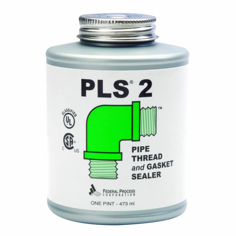 PB16 Federal Process 1 Pint PLS2 Premium Pipe Thread and Gasket Sealer w/ Brush. - Sold per Each w/ 6 per Case