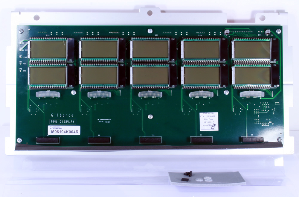 M06194K004 Gilbarco Encore 500S 5-Grade Dual Level PPU PCB and Panel Assembly.                 --- Price Includes Cost Of Core Which Will Be Refunded Upon Return Of A Rebuildable Core                 ---