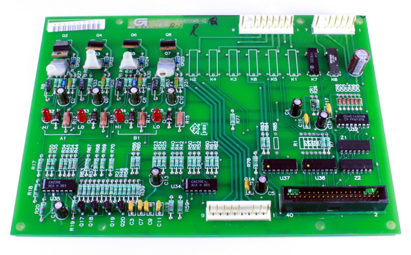 T16598-G1 Gilbarco Blend Valve Driver Board.(Replaced By T16598-G2) G2 Can Spare G1 -- Price Includes Cost Of Core Which Will Be Refunded Upon Return Of A Rebuildable Core --