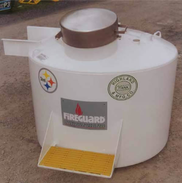 HT-FIRE-HOPPER Highland Tank UL-2085 Insulated Aboveground Fire Hopper Tank