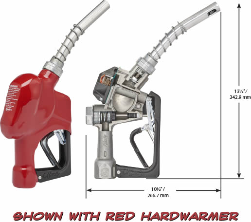 Husky 209803N-02 New 1A Light Duty Diesel Nozzle with 3-Notch Hold Open Clip and Red Hand Guard