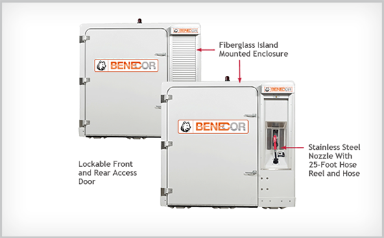 CNISQ1259 Benecor FTECP 500 Gallon DEF Max Duty Plus Fleet Enclosure w/ - Cold Weather Package - Pre-Wired Electrical Components - Meet UL-508 Standards
