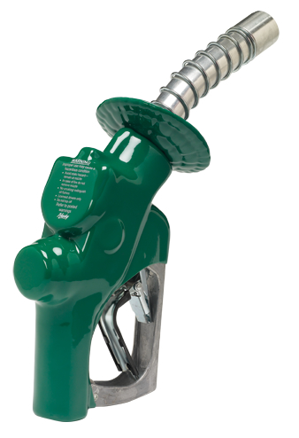 502510N-03 Husky Rebuilt 1+VIII Truck Nozzle w/ Green Handwarmer, Hold Open Clip and Spout w/o Bushing.                 --- Price Includes Cost Of Core Which Will Be Refunded Upon Return Of A Rebuildable Core                 ---