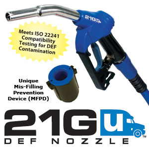 21GU-050G OPW Gilbarco DEF Nozzle, w/ Mis-Filling Prevention and Gilbarco Guard. !! Needs M34 Adapter to Convert to 1