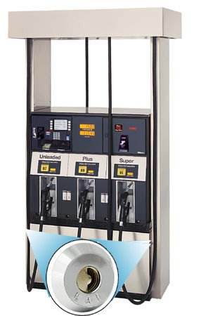 KIT-GAD-2000FD Petro Defense Gilbarco Advantage Double Fuel Door Dispenser High Security Locks w/ - (4) Locks - (4) Hook Adapters - Keys Sold Separately!!