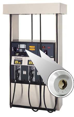 KIT-GAD-1000FD Petro Defense Gilbarco Advantage High Security Single Top Door Locks w/ - (2) Locks - (2) Latches