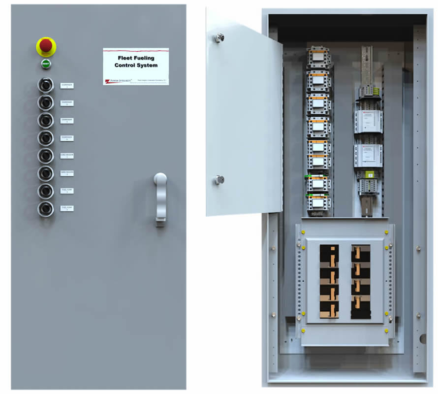 PICO-FPS Power Integrity FPS Fleet Fueling Control System. - Factory Wired w/ Mark Terminals - Size For Site Requirments w/  - Emergency Stop  - Pump Isolation  - Pump Interface  - Leak Detection Controls