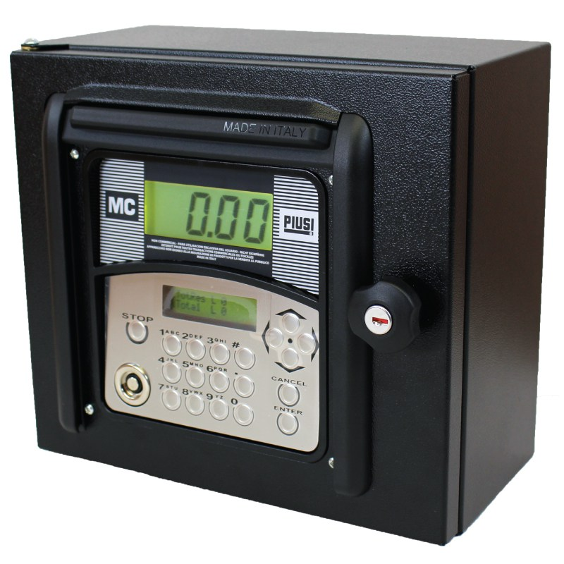 F00597500 Piusi MCBox 1.5 Fuel Management System w/ - 60 or 120 User Capability (Depending on Software) - PC Connection Accessories - 650 Transaction Data Capacity - Gray Managment Key - User PIN Code or Key ID - Pump On/Off Switching - Receives:  - Flow Meter Pulses  - Enable Level Switch Signal  - Enable Nozzle Contact Signal - 120vAC / 60hz - Compatible Fluid Types:  - Diesel, Gasoline, Oil, Keronsene - RSC Converter and Remote Printer Sold Separately