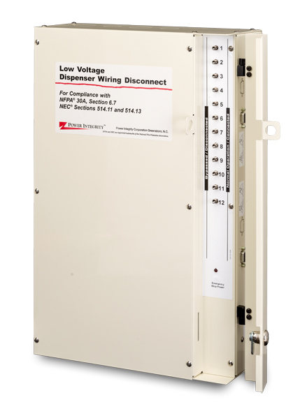 DDS-EXP8D Power Integrity 8-Wayne Dispenser Primary Low Voltage Disconnect w/ - IDPOS - (1) Ethernet Circuit per Dispenser - Wall Mount